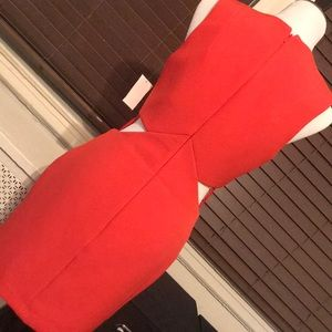 Kendall & Kylie Dresses - Kendall + Kylie Red Cut Out Dress SMALL